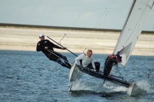 John Ready helming at the Datchet Open 2011 with Mark Mawditt