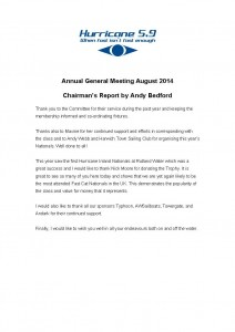 Hurricane Chairmans Report 2014