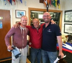 Geoff and Dan tindale with Andy Bedford